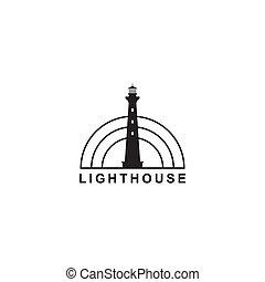 logotipo, silhueta farol