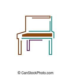 logotipo, sillas, sofás, mesas, interior, símbolo,...