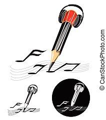 logotipo, simbolo, compositore