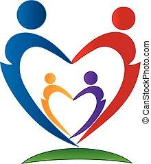 logotipo, simbolo, famiglia