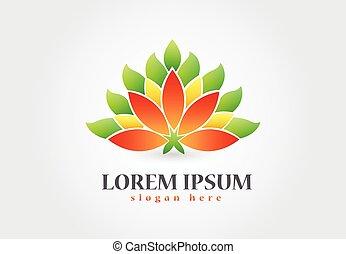 logotipo, simbolo, fiore