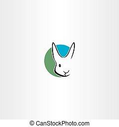 logotipo, simbolo, vettore, disegno, coniglio