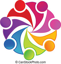 logotipo, social, trabalho equipe, networking