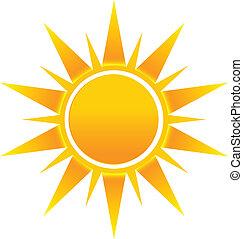 logotipo, sol, imagem, shinny, ícone