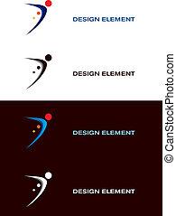 logotipo, sport, disegni elementi