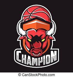 logotipo, sport squadra, toro