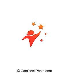 logotipo, stella, bambini