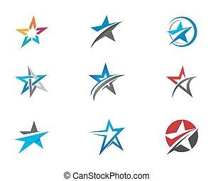 logotipo, stella, sagoma