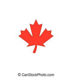 logotipo, stilizzato, autunno, acero, fogliame, foglia