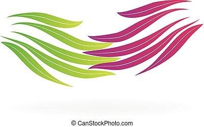 logotipo, stretta di mano, affari donna
