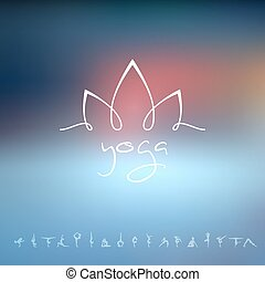 logotipo, studio yoga