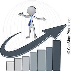 logotipo, sucesso, bussines