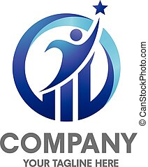 logotipo, sucesso, negócio