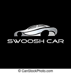 logotipo, swoosh, automobile