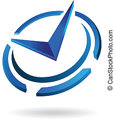 logotipo, syled, orologio, tempo