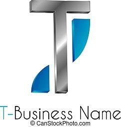 logotipo, t, lettera