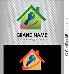 logotipo, tecla casa, ícone