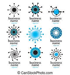 logotipo, tecnología, digital