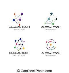logotipo, tecnologia, affari