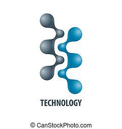 logotipo, tecnologia, atoms5, forma