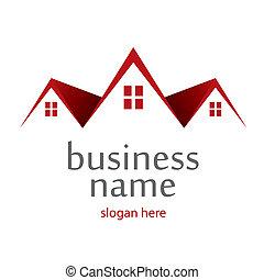logotipo, telhados