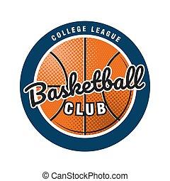 logotipo, template., team., emblema, vetorial, basquetebol, clube