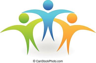 logotipo, temwork, sucesso, pessoas