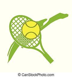 logotipo, tennis, illustrazione, casato
