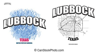 logotipo, texas, opere, due, lubbock