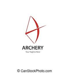 logotipo, tiro al arco
