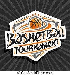 logotipo, torneio, vetorial, basquetebol