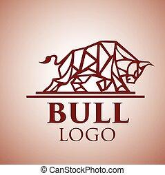 logotipo, touro