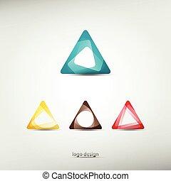 logotipo, triángulo