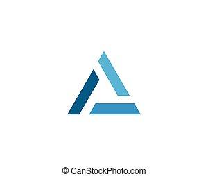 logotipo, triangulo, vetorial