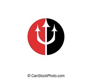 logotipo, tridente