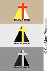 logotipo, trindade, igreja