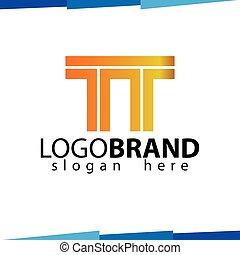 logotipo, tt, vettore, lettera, iniziale