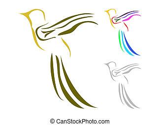 logotipo, uccello