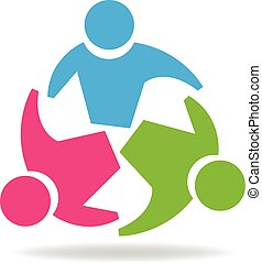 logotipo, unidade, pessoas