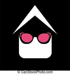 logotipo, uso ojo, tienda