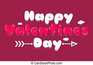 logotipo, valentines, bandeira, dia, fundo