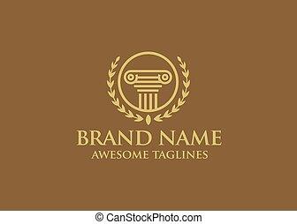 logotipo, vector, abogado, diseño