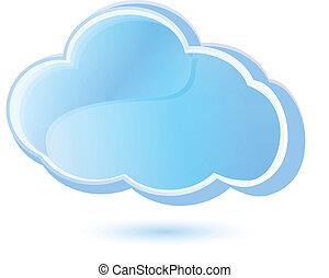 logotipo, vector, apps, nube