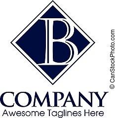 logotipo, vector, b, carta