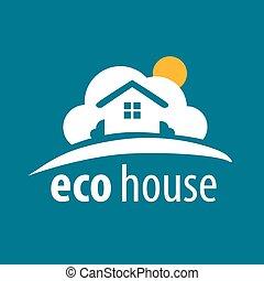 logotipo, vector, casa