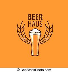 logotipo, vector, cerveza