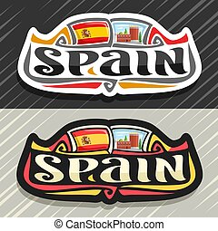 logotipo, vector, españa