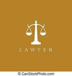logotipo, vector, icono, ley