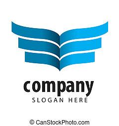 logotipo, vector, impreso