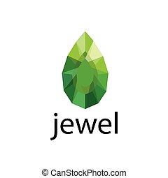 logotipo, vector, joya